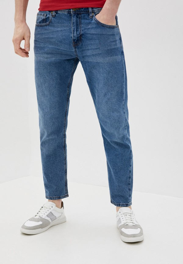 мужские зауженные джинсы cotton on, голубые