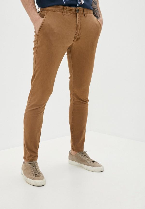 мужские брюки чинос cotton on, коричневые