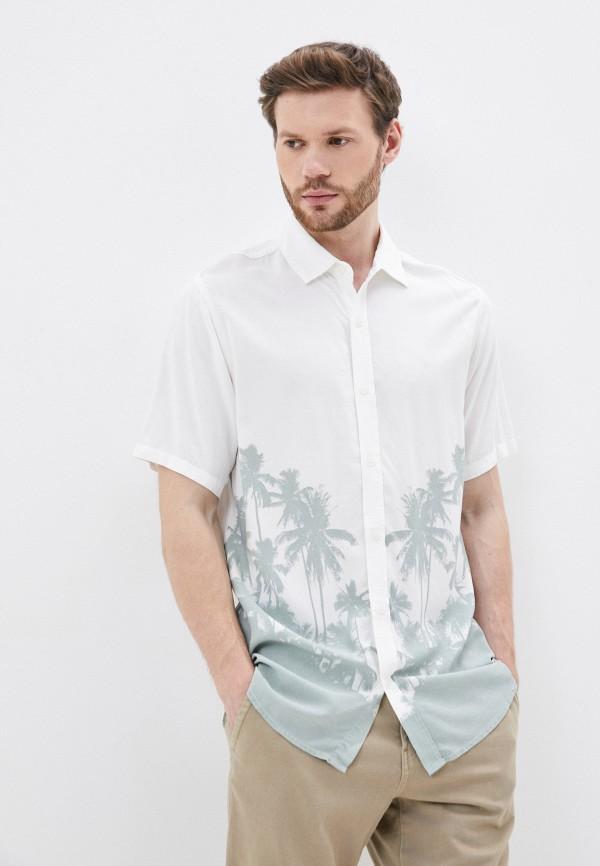 мужская рубашка с коротким рукавом cotton on, бежевая
