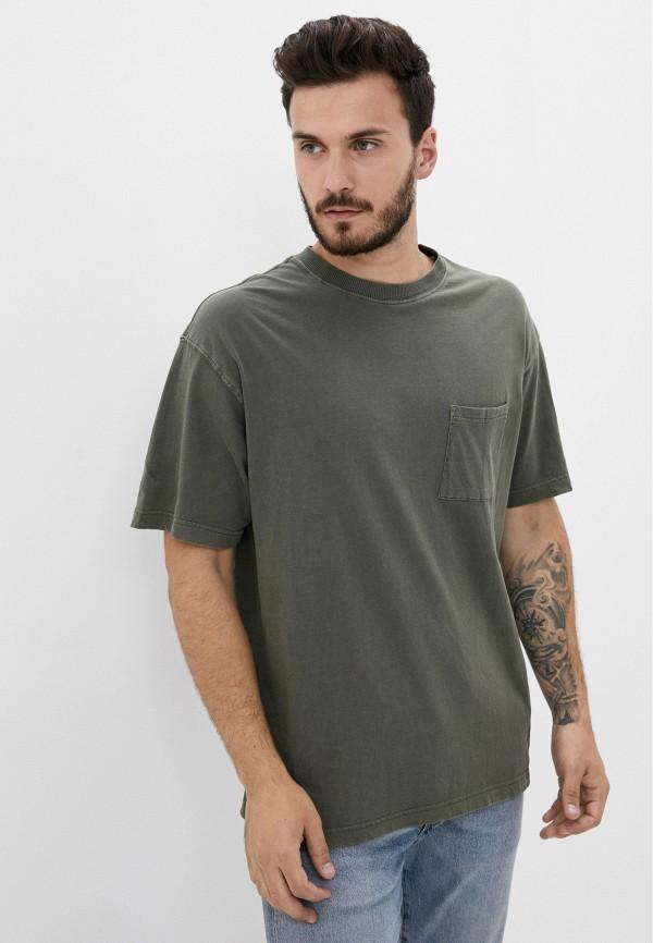 мужская футболка с коротким рукавом cotton on, зеленая