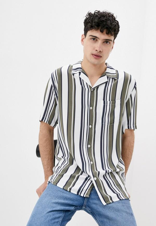 мужская рубашка с коротким рукавом cotton on, белая
