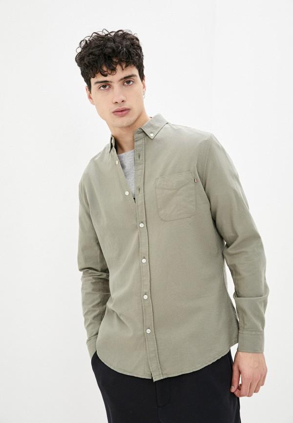 мужская рубашка с длинным рукавом cotton on, хаки