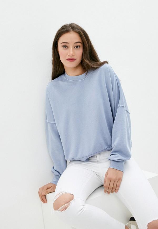 женский свитшот cotton on, голубой