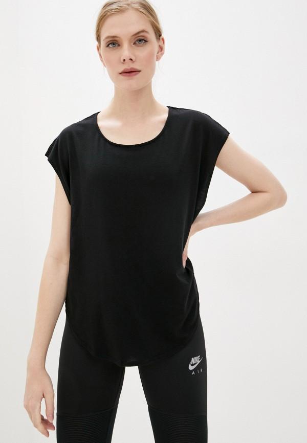женская футболка cotton on, черная