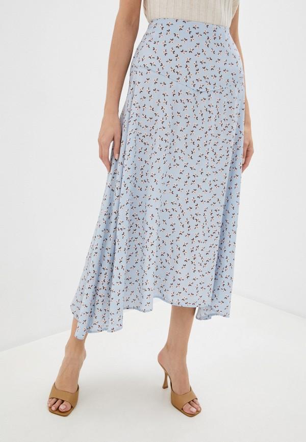 женская юбка-трапеции cotton on, голубая