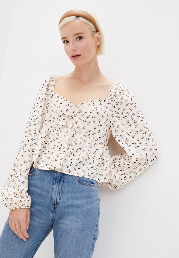 женская блузка cotton on, бежевая