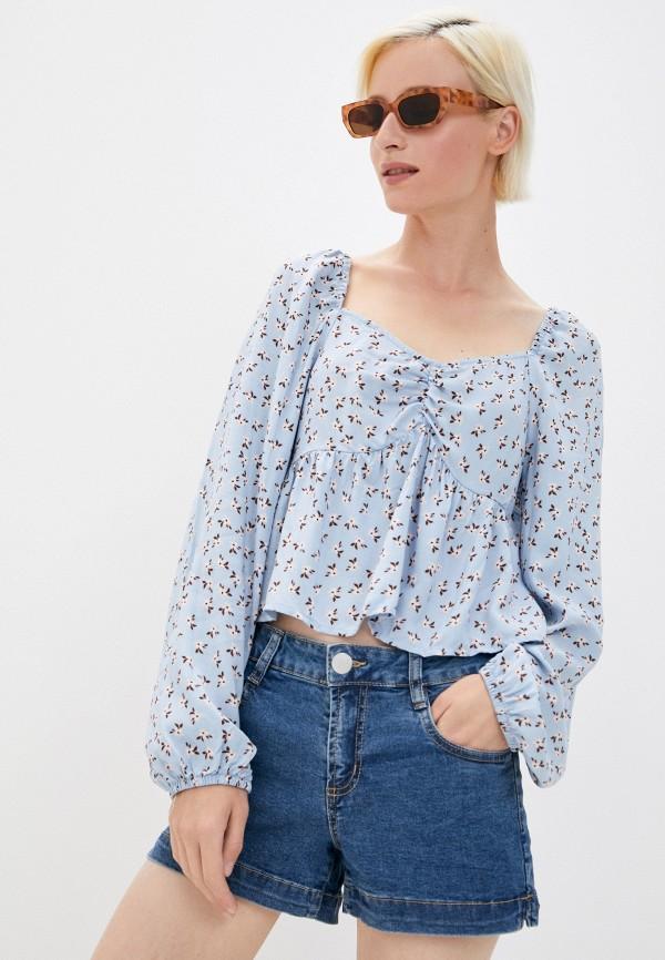 женская блузка cotton on, голубая