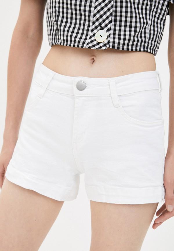 женские джинсовые шорты cotton on, белые