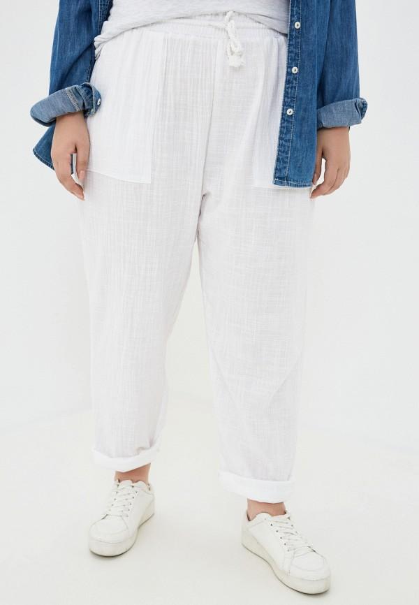 женские зауженные брюки cotton on, белые