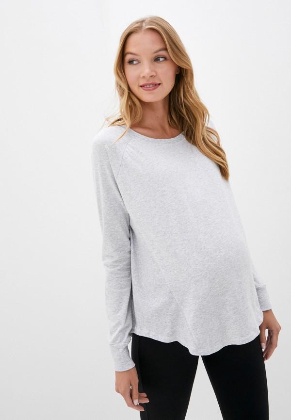 женский лонгслив cotton on, серый