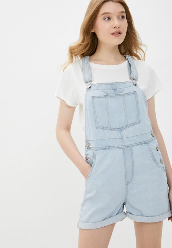 женский джинсовые комбинезон cotton on, голубой