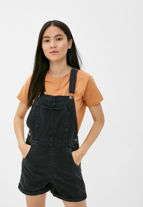 женский джинсовые комбинезон cotton on, черный