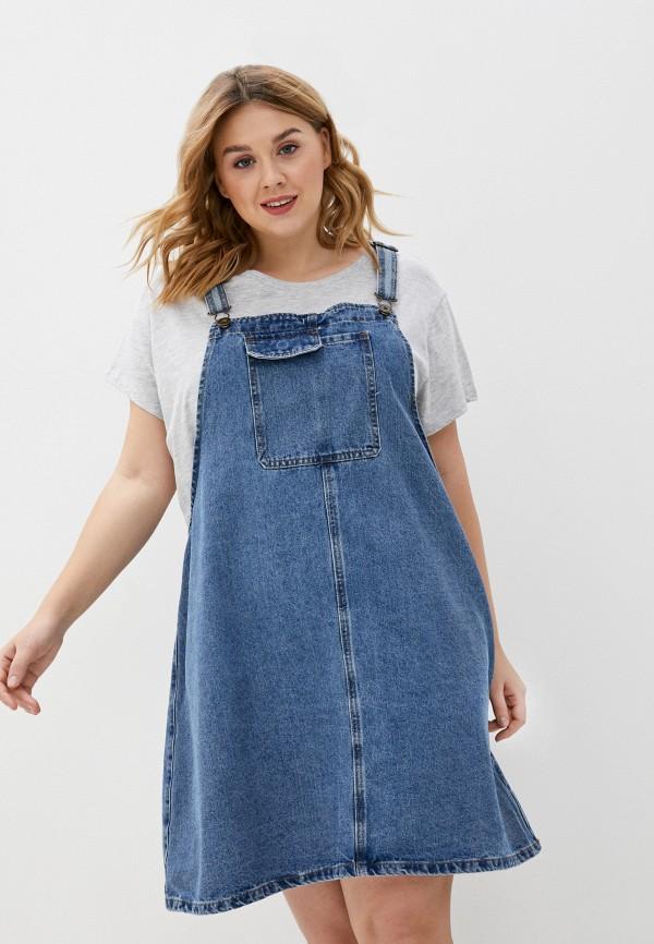 женское джинсовые платье cotton on, голубое
