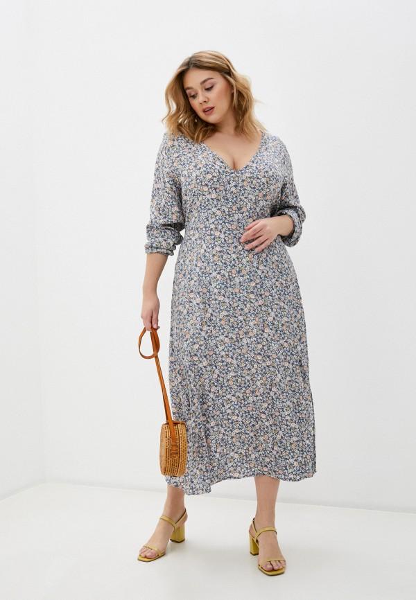 женское повседневные платье cotton on, голубое
