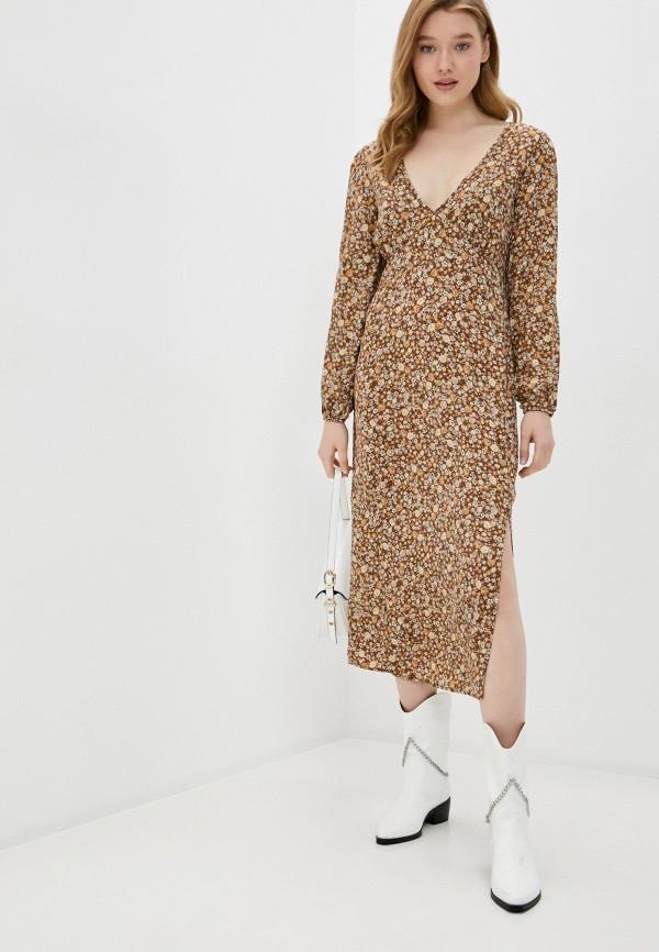 женское повседневные платье cotton on, коричневое