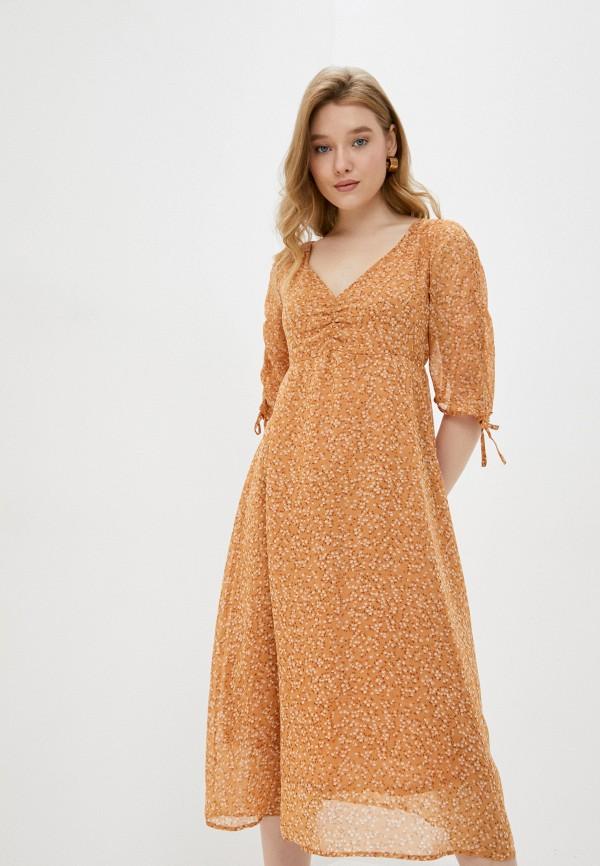 женское повседневные платье cotton on, бежевое