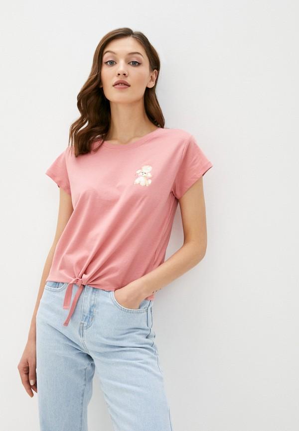 женская футболка cotton on, бордовая