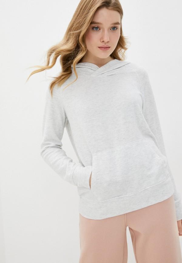 женские худи cotton on, серые