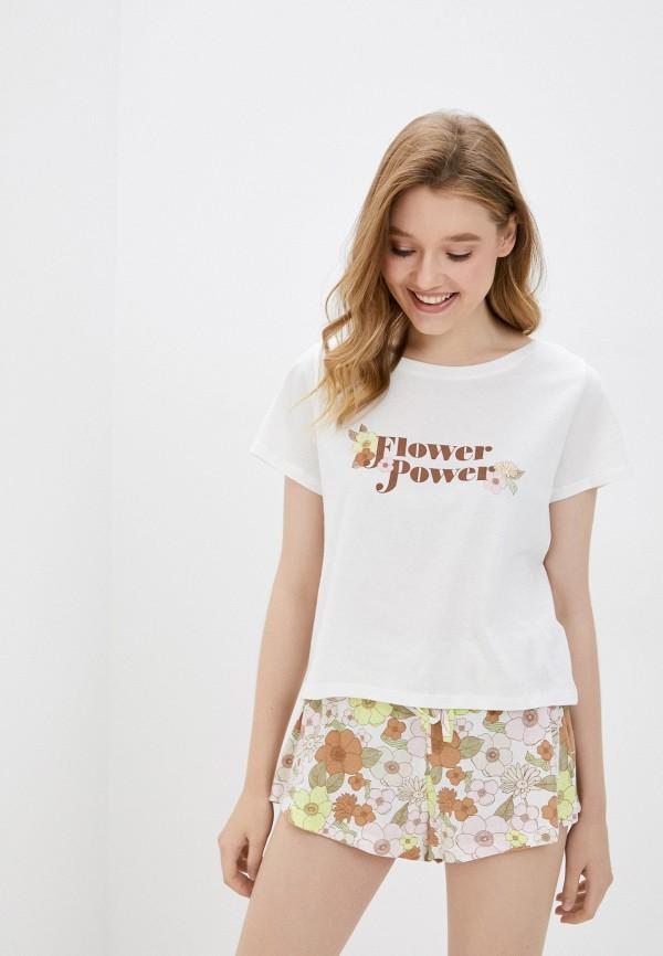 женская пижама cotton on, разноцветная