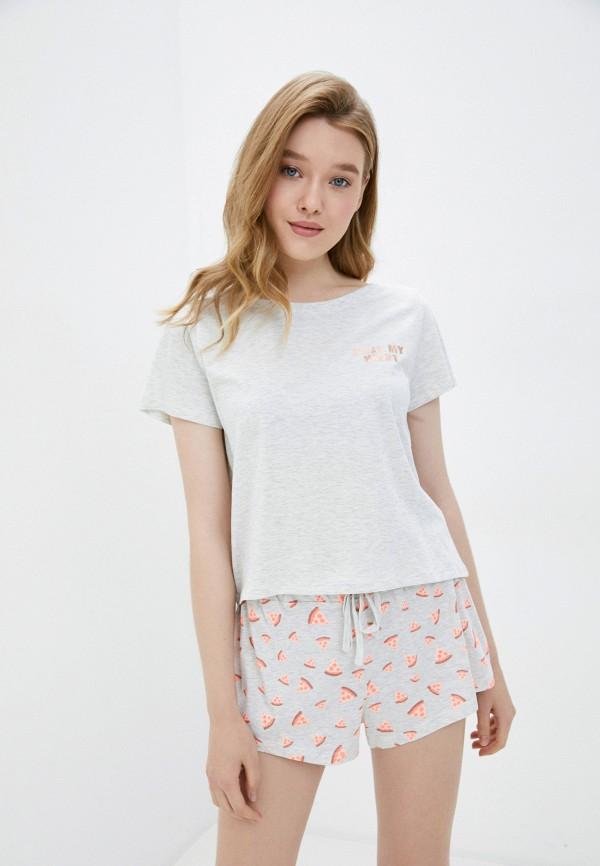 женская пижама cotton on, серая