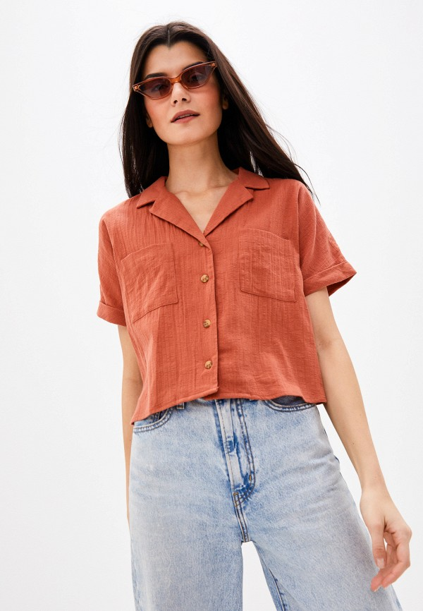 женская блузка cotton on, коричневая