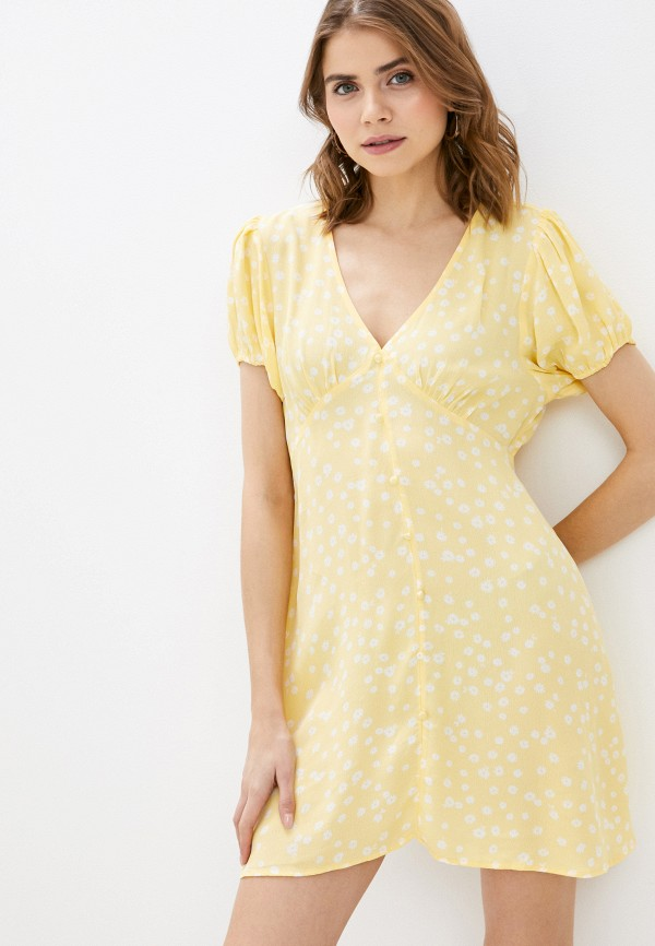 женское повседневные платье cotton on, желтое