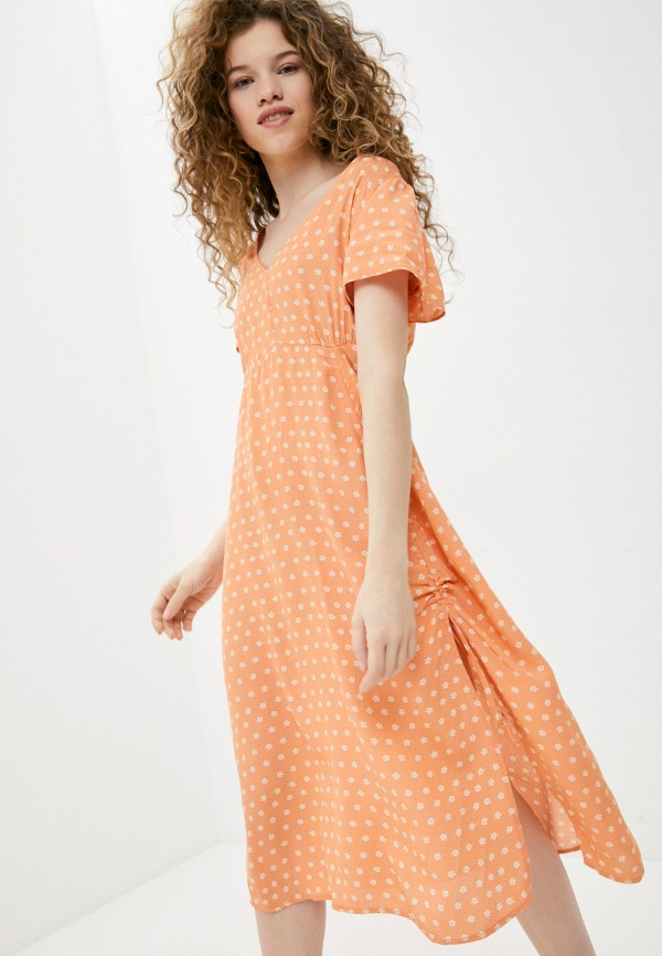 женское повседневные платье cotton on, оранжевое