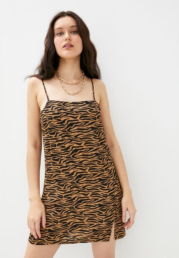 женское платье cotton on, коричневое