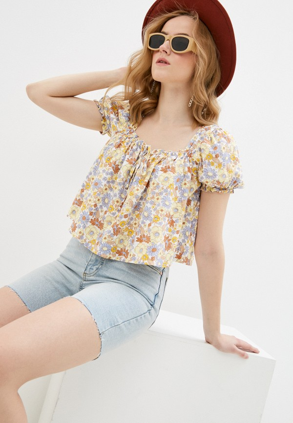 женская блузка cotton on, желтая