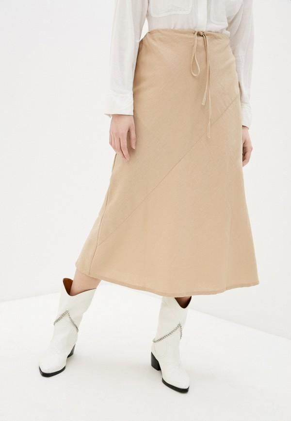 женская юбка cotton on, бежевая