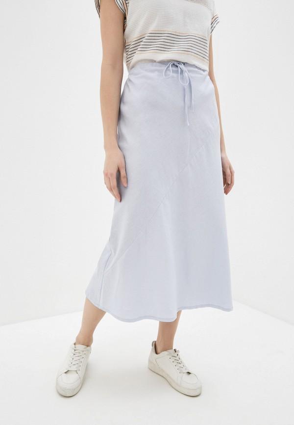 женская юбка cotton on, голубая