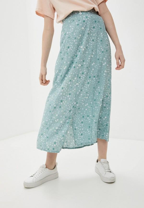 женская юбка cotton on, зеленая
