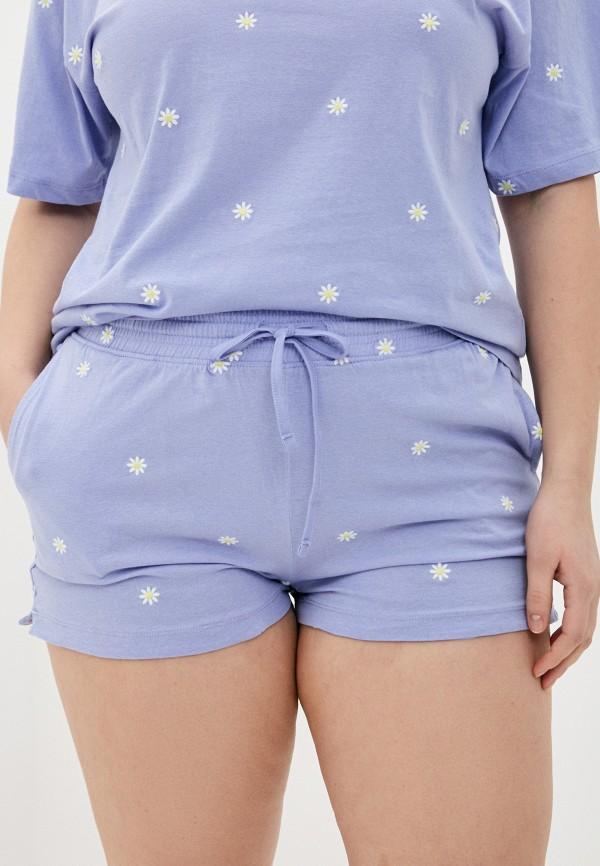 женские шорты cotton on, голубые
