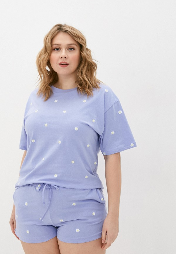 женская футболка cotton on, голубая