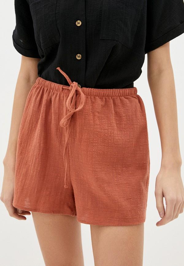 женские повседневные шорты cotton on, коричневые