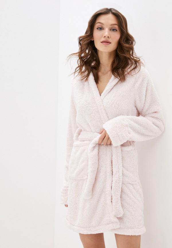 женский халат cotton on, розовый