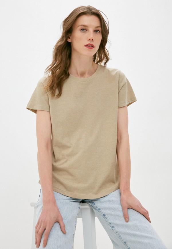 женская футболка cotton on, бежевая