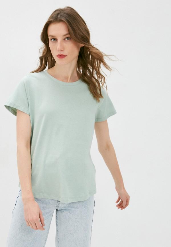 женская футболка cotton on, бирюзовая