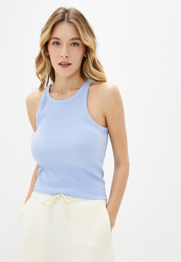 женская майка cotton on, голубая