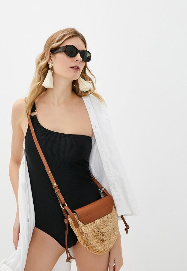 женский купальник cotton on, черный