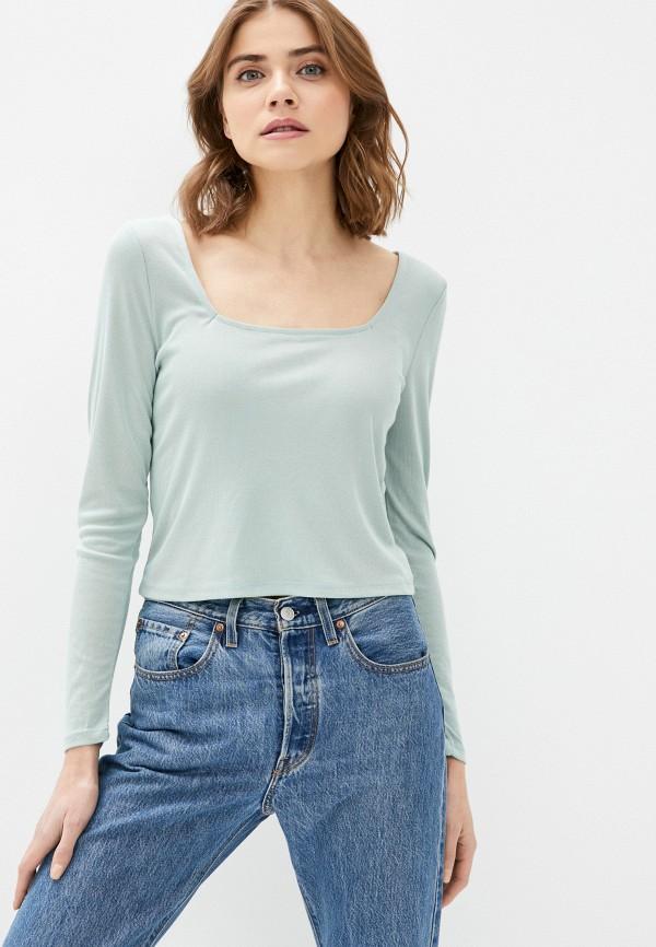 женский лонгслив cotton on, зеленый