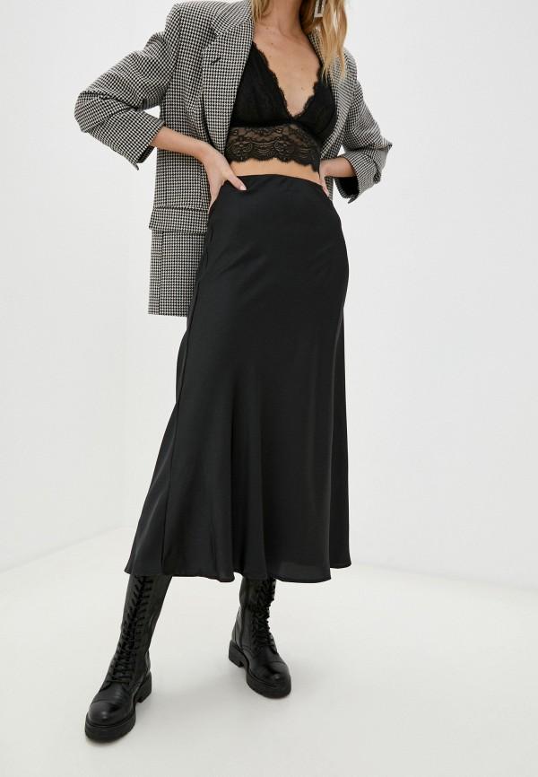 женская юбка cotton on, черная