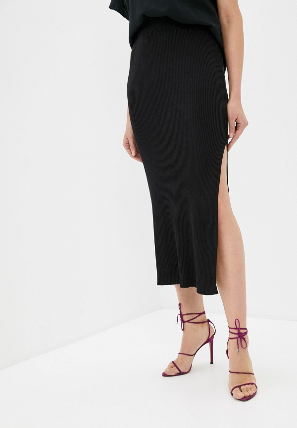 женская зауженные юбка cotton on, черная