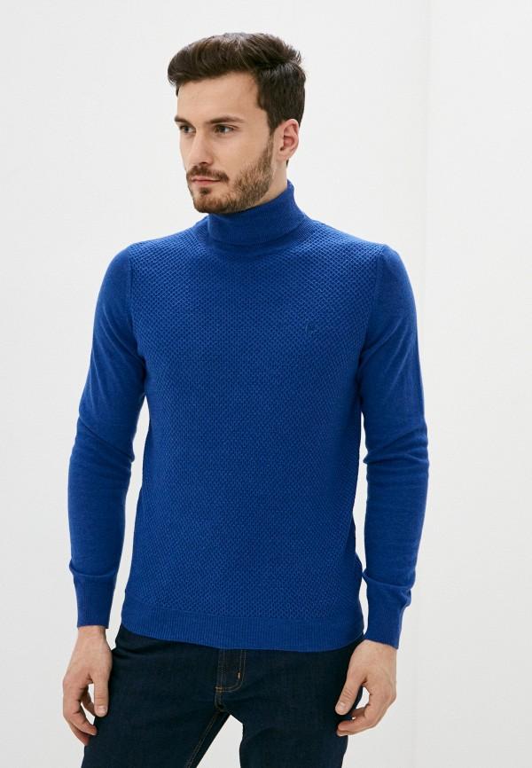 мужская водолазка conte of florence, синяя