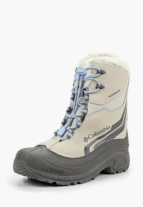 ботинки columbia для девочки, бежевые
