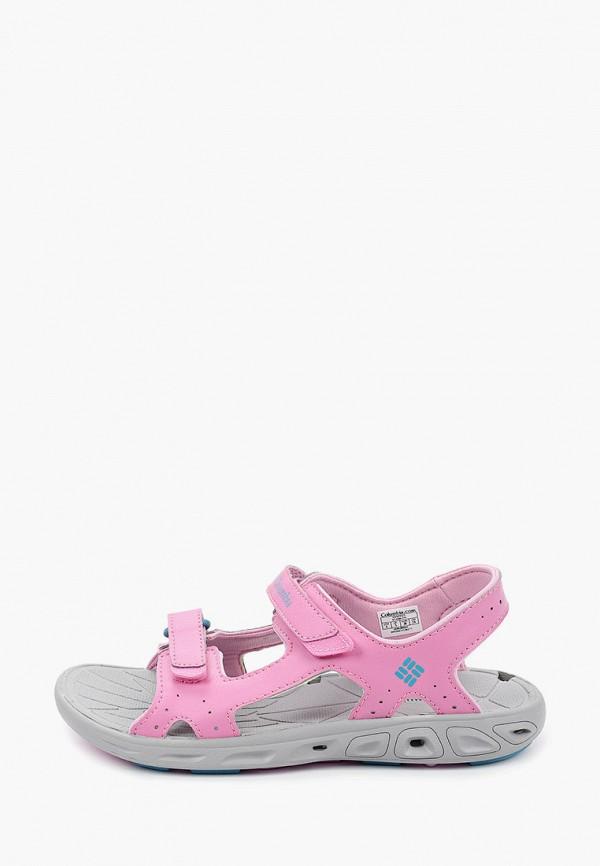 сандалии columbia для девочки, розовые