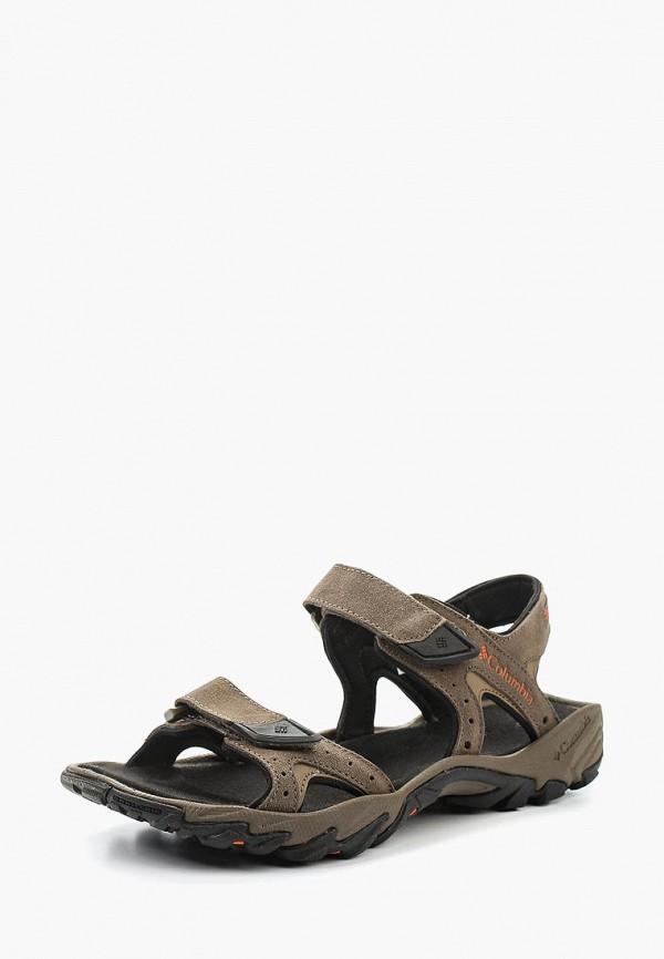 мужские сандалии columbia, коричневые