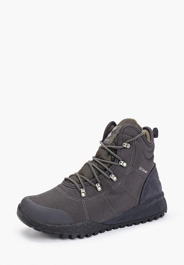 Фото 2 - мужские ботинки и полуботинки Columbia серого цвета