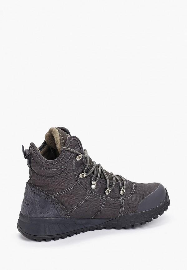 Фото 3 - мужские ботинки и полуботинки Columbia серого цвета