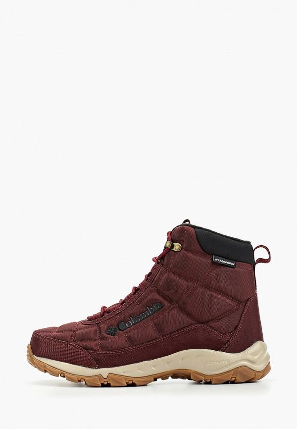 мужские ботинки columbia, бордовые